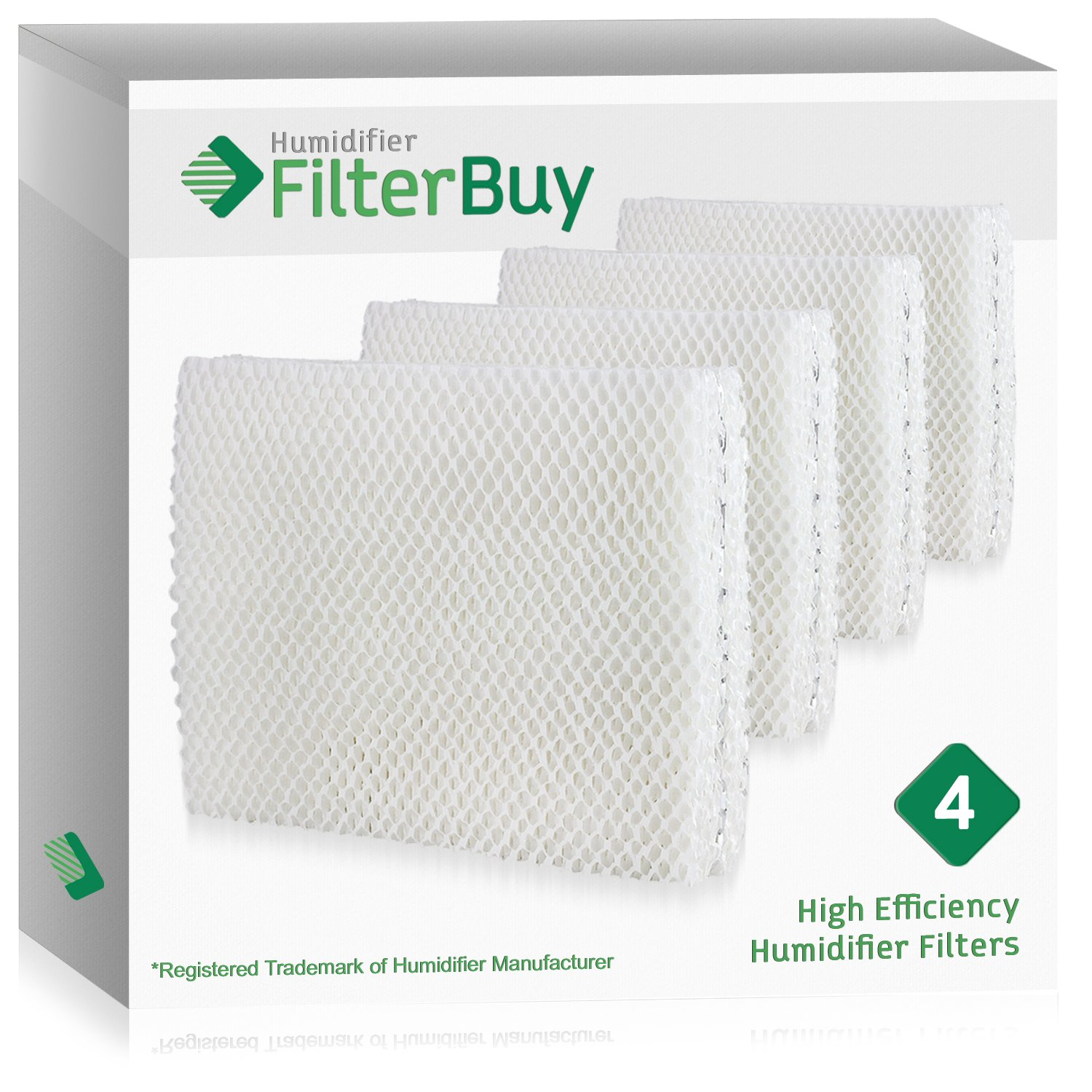 FilterBuy Vornado MD1-0001, MD1-0002, MD1-1002 Compatible Humidifier Wick Filters (Pack of 4). Designed by FilterBuy to fit all Vornado Evaporative Humidifiers.