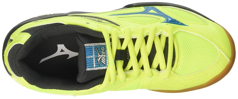 Mizuno V1GD1703, Chaussures de Sport Mixte Enfant - Multicolore - Multicolore (FieryCoral/White/DressBlues 01), 36.5 EU EU