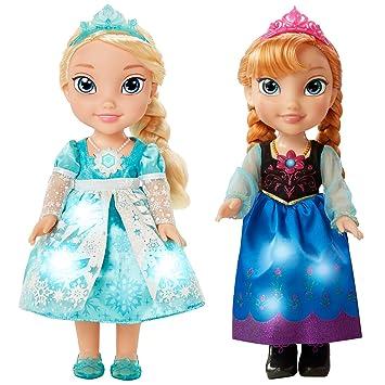 DISNEY FROZEN SNOW GLOW SINGING SISTERS ANNA ELSA DOLL TOY