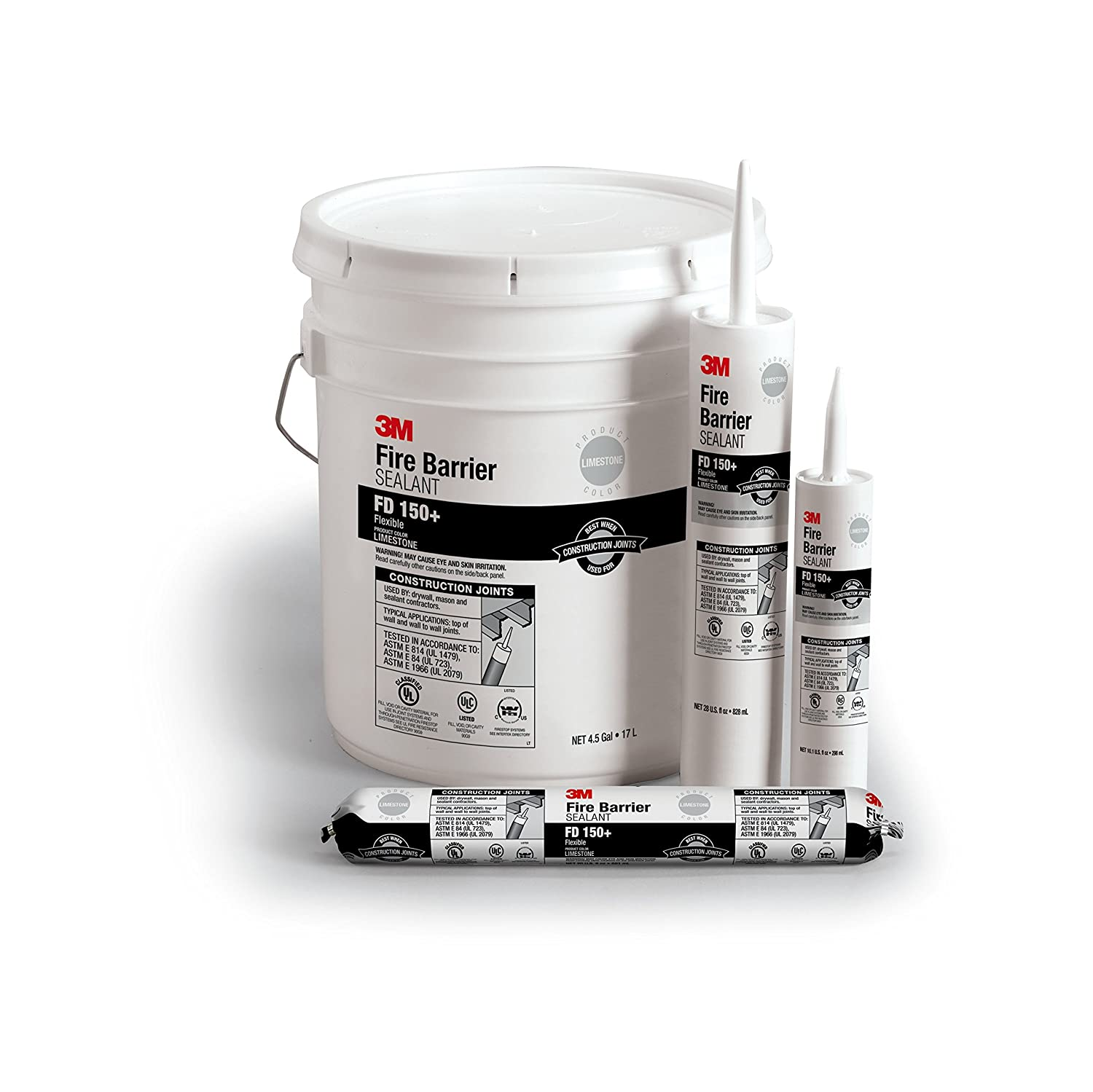 Image of Home Improvements 3M 16565-case Fire Barrier Sealant FD 150+ Limestone, Pail, 1/case, 4.5 gal