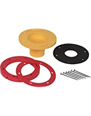 "OATEY 43401 Set-Rite Toilet Flange Extension Kit, 1/4"" - 1"", Red, Yellow"