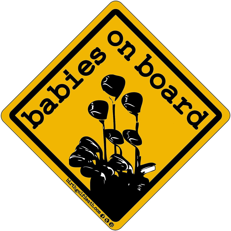 birth.golf.death. Premium Golf Sticker Decal Thick Vinyl UV Laminate for Car Truck Cart Case