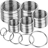FANDAMEI 50 Pcs Silver Multi-Purpose Metal O Ring Non-Welded O Ring for Macrame, Camping Belt, Dog Leashes, Hardware…