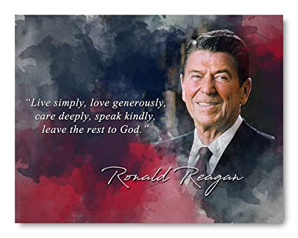 Amazon Ramini Brands Ronald Reagan Live Simply Inspirational Classy Ronald Reagan Love Quotes