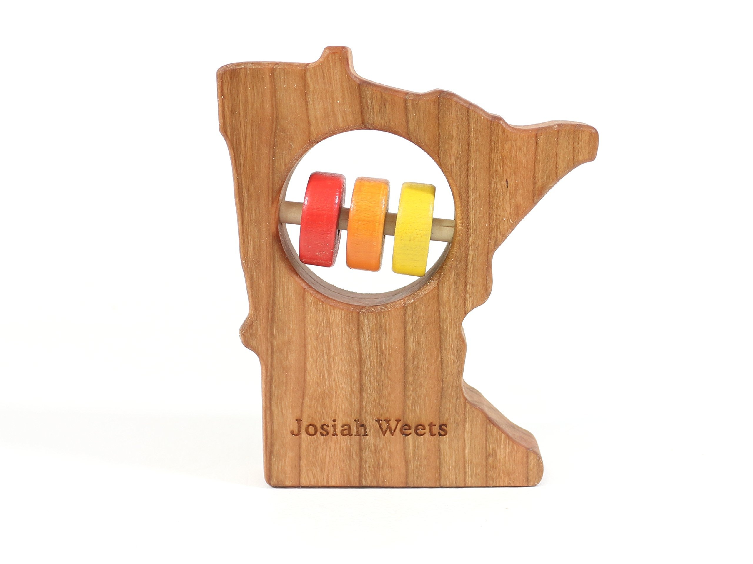 Minnesota State Wooden Baby Rattle ™