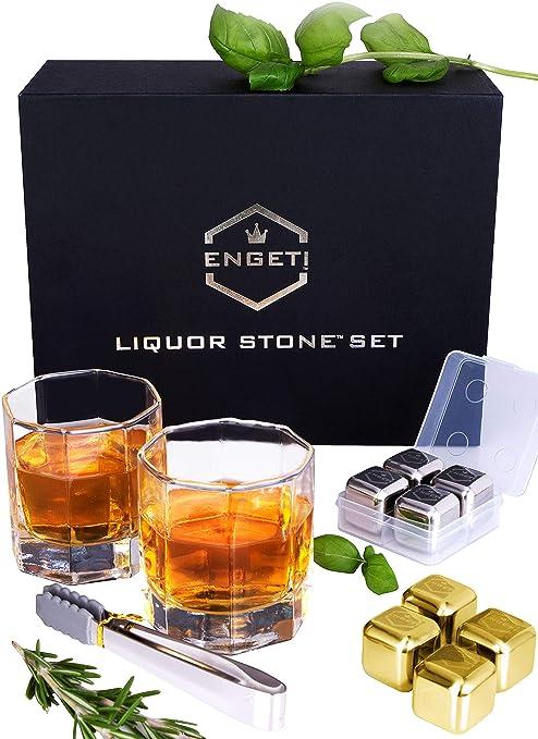 Amazon.com: ENGETI - Juego de piedras de whisky de lujo ...