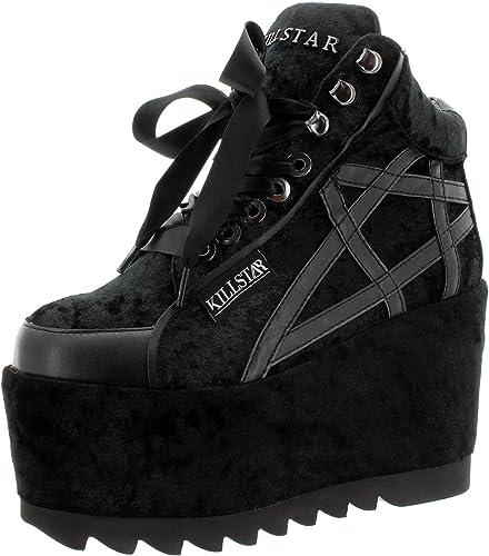Killstar Baskets pour Femme Noir Noir