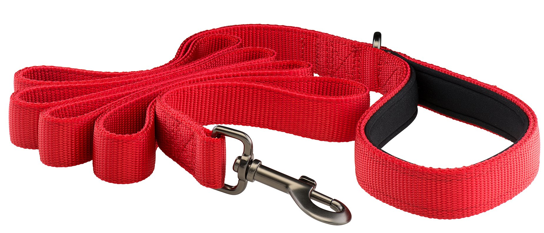 Woofiy Original By Premium Dog Leash - Heavy Duty Strap, Padded Handle, Ambient Colors - 6 Feet Long, 1 Inch Wide