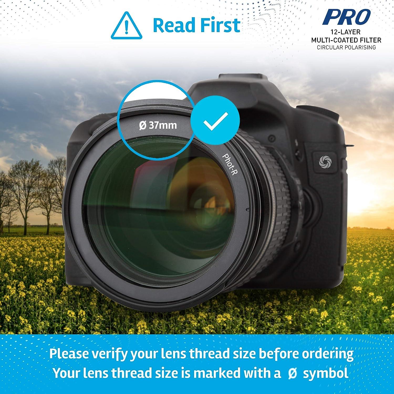 Phot-R 52mm CPL Slim Circular Polarising Digital Polarizer Screw-In Lens Filter