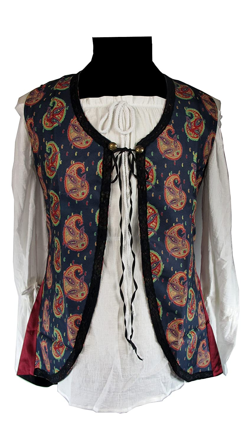 Deluxe Angelica Lady Pirate Vest - DeluxeAdultCostumes.com