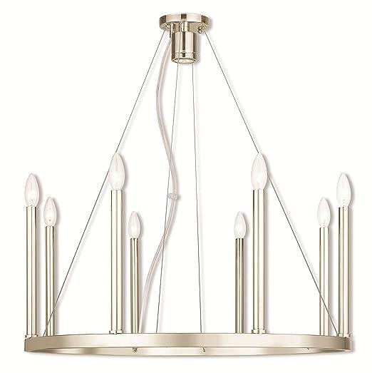 Amazon.com: Chandeliers - Lámpara de techo (níquel pulido, 8 ...