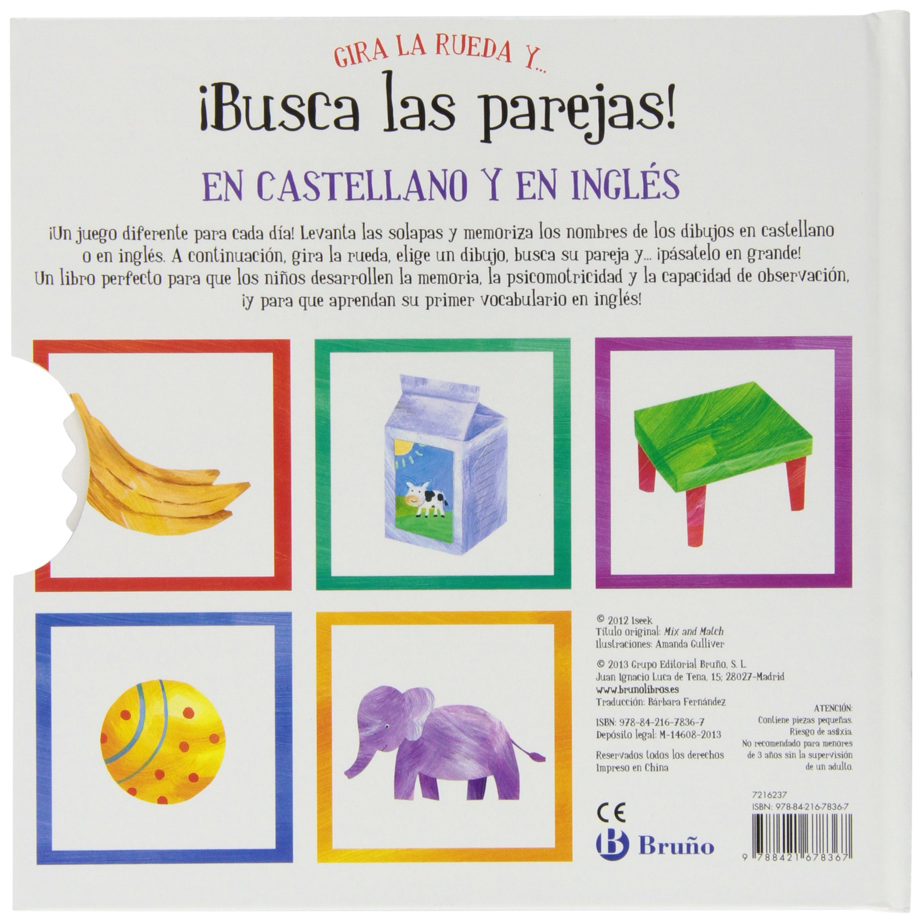 Gira la rueda y... ¡busca las parejas! / Mix and Match (Spanish and English Edition): Amanda Gulliver, Bárbara Fernández: 9788421678367: Amazon.com: Books