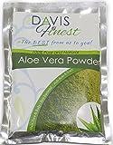 Davis feinster Premium Aloe Vera Puder–100% Pure und natürliche Pflanzenkraft Reich an Aminosäuren und Vitaminen für Haut- und Haaprobleme–Gesichtsmaske zur Behandlung von Narben und Aknezuständen - trockene juckende Kopfhaut–Fördert Haarwachstum (50g) (100g)