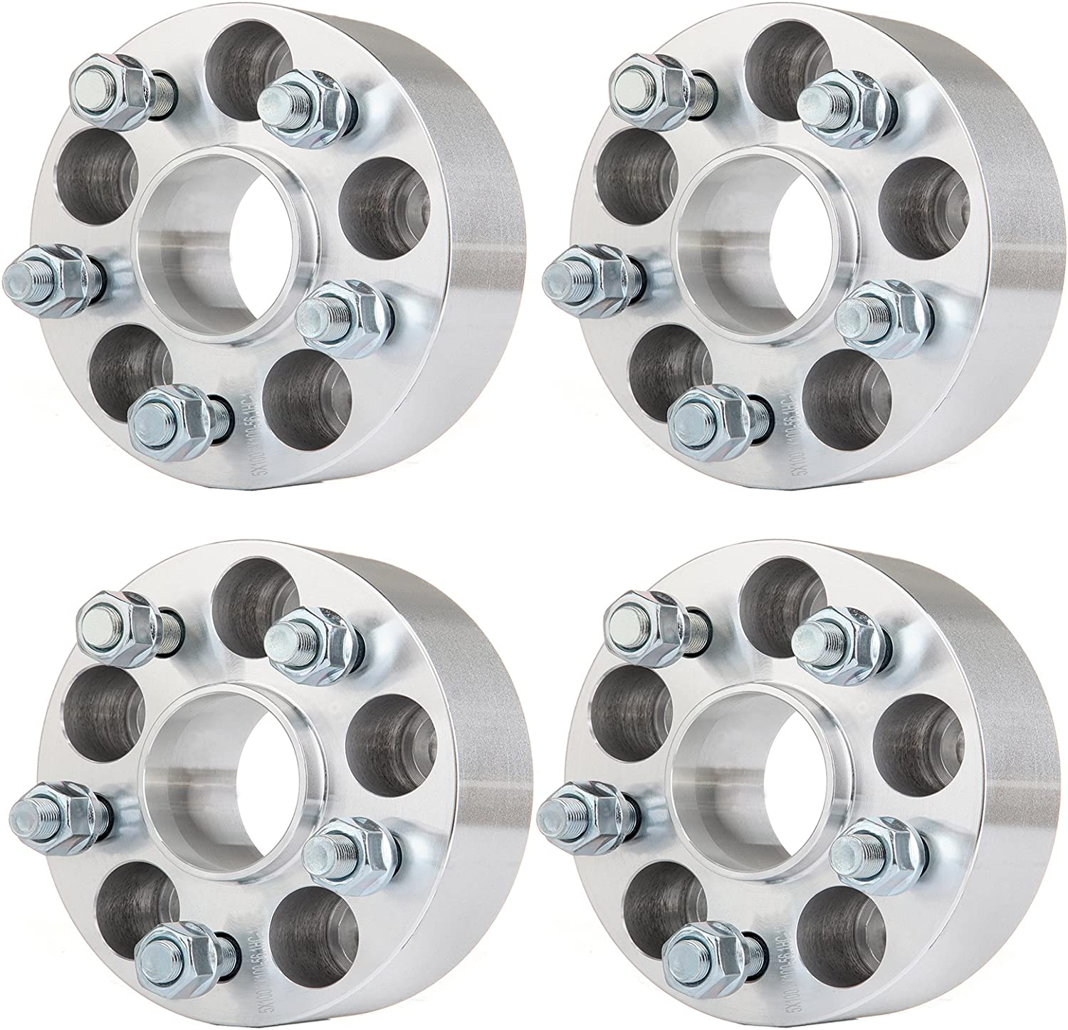 5x108, 25mm 2pcs 1 inch 5x4.25 Hubcentric Wheel Spacers for Ford C-Max Focus Taurus Thunderbird Jaguar F-Type S-Type XJR XF XFR Lincoln MKZ and MANY MORE 63.4mm Bore with 12x1.5 Studs