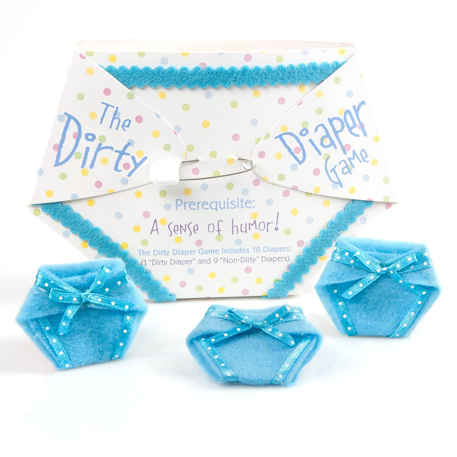 Amazon.com: The Dirty Diaper Game   Baby Shower Game   Blue (10 Diapers):  Kitchen U0026 Dining