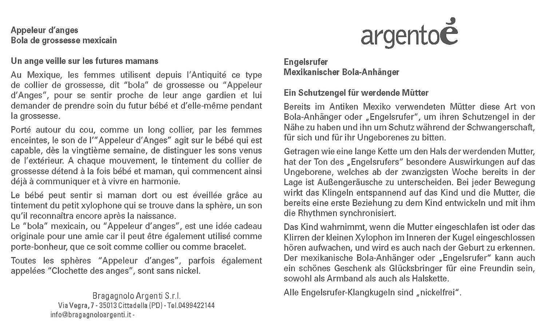 KLANGKUGEL ENGELSRUFER MEXIKANISCHE BOLA ANH/ÄNGER Rhodium-Metal argento/è