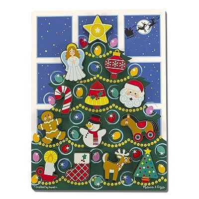 Melissa & Doug Holiday Tree Chunky Puzzle: Melissa & Doug: Toys & Games