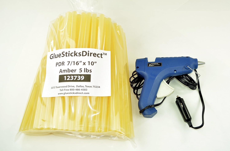 """5 lbs PDR Amber 7 / 16 """" x 10 """" Glue Sticks & gsdh-270 12ボルト40 W HT Glue Gun B01FI5DMJ2"""
