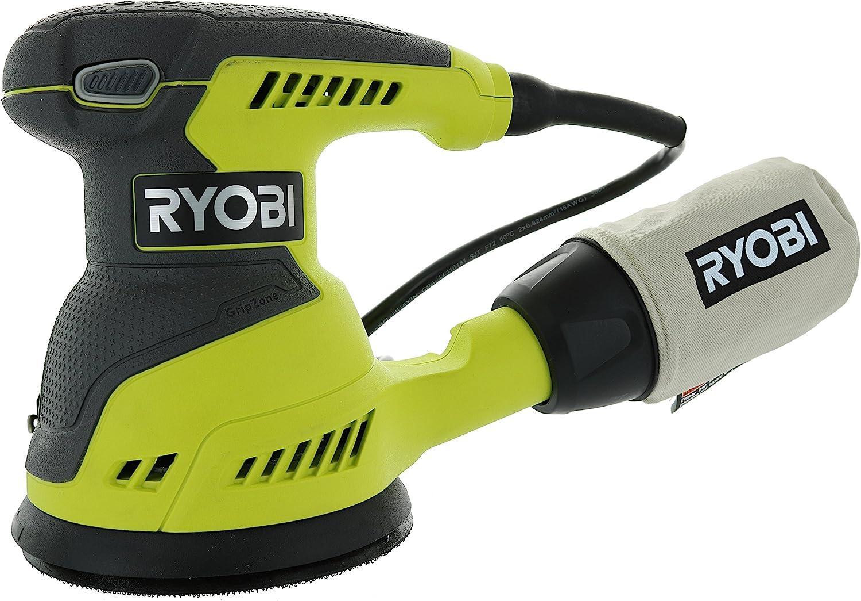 Ryobi RS290G Single Speed 5 Inch Corded Random Orbit Sander