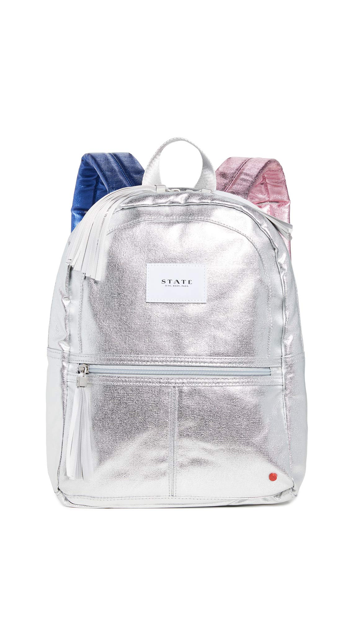 STATE Women's Mini Kane Backpack, Silver/Multi, One Size by STATE Bags