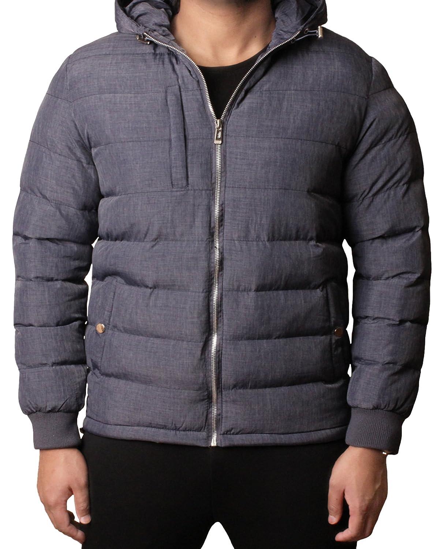 D project Boys Jacket Coat Padded Bubble Puffer Hooded Marl Warm Hooded Winter