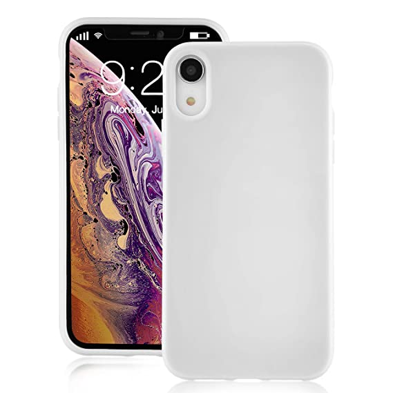 check out 008a9 7b80a for iPhone XR White Case, technext020 Shockproof Ultra Slim Fit iPhone 10R  Cover TPU Soft Gel Rubber Cover Shock Resistance Protective Back Bumper for  ...