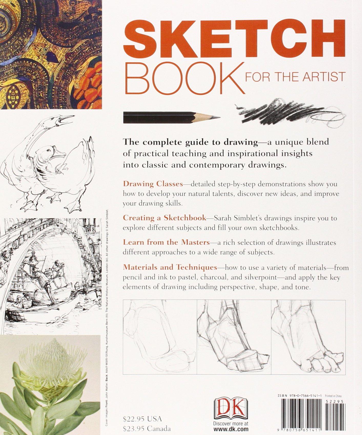 Sketch Book For The Artist: Sarah Simblet: 9780756651411: Amazon: Books