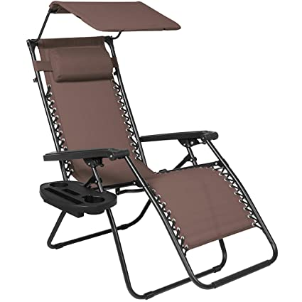 Gentil Best Choice Products Folding Zero Gravity Recliner Lounge Chair W/Canopy  Shade U0026 Magazine Cup