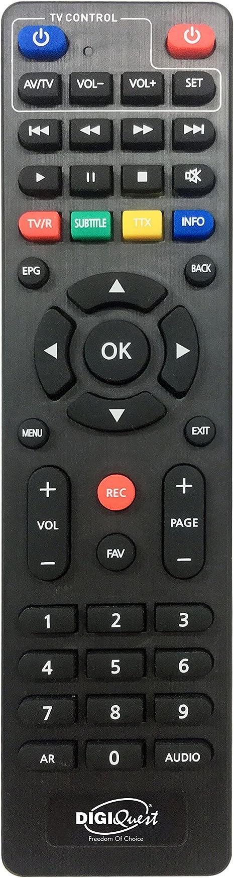 Digiquest Cable de Abel Full HD Cable Receptor Digital DVB-C (HDMI, SCART, LAN, USB, pantalla, botones, 2 en 1 mando a distancia) Incluye cable HDMI