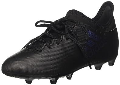 35005f10ec adidas X 17.3 FG, Chaussures de Football Mixte Enfant, Noir Core Utility  Black,