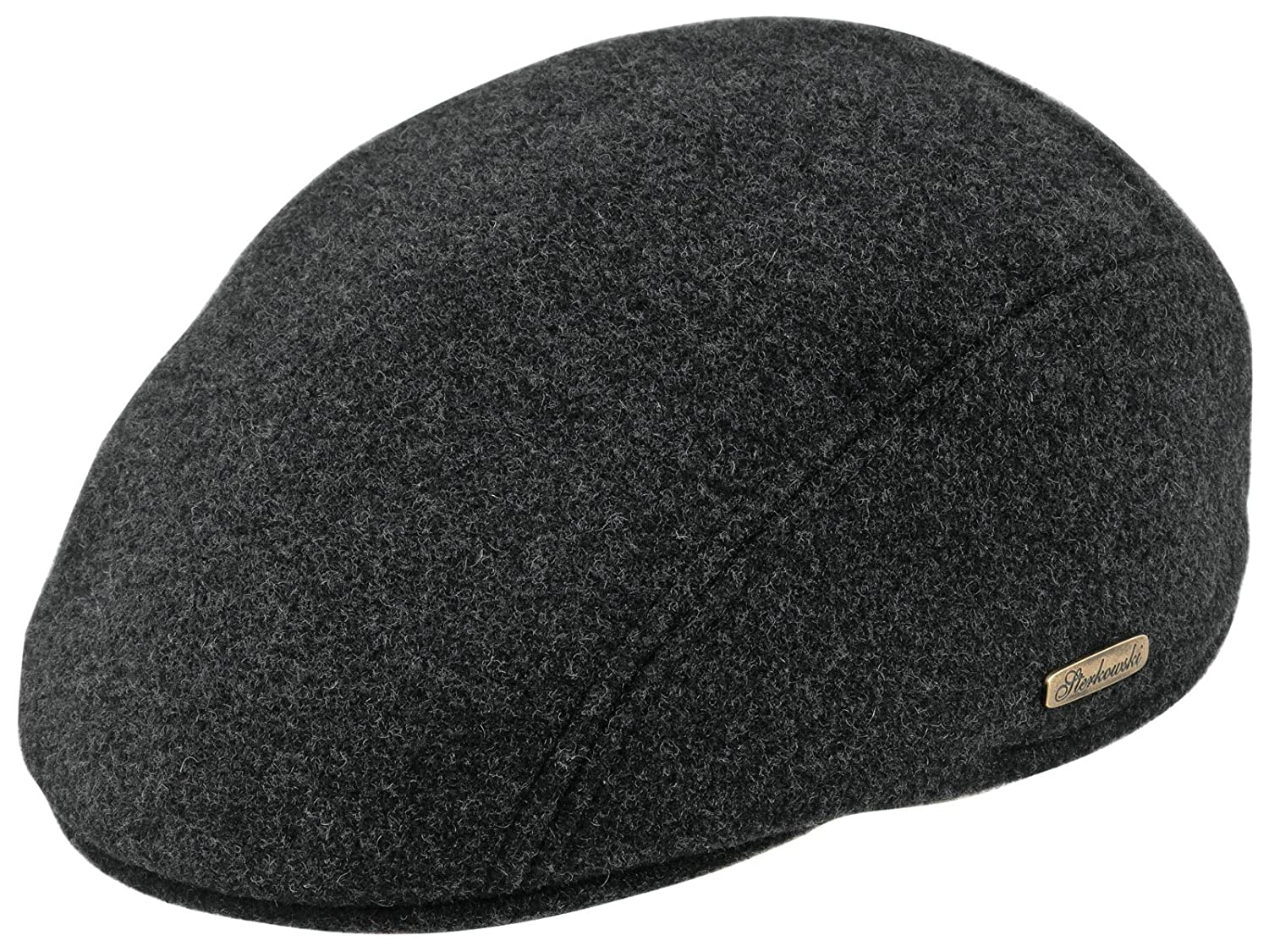 Warm Wool Blend Petersham Ivy League Flat Cap with Earflap US 7 1/8 Charcoal MRW-ANN-W05US 7 1/8