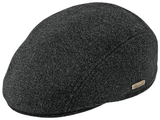 5204dbe5adca3 Sterkowski Warm Wool Blend Petersham Ivy League Flat Cap with Earflap US 7  Charcoal