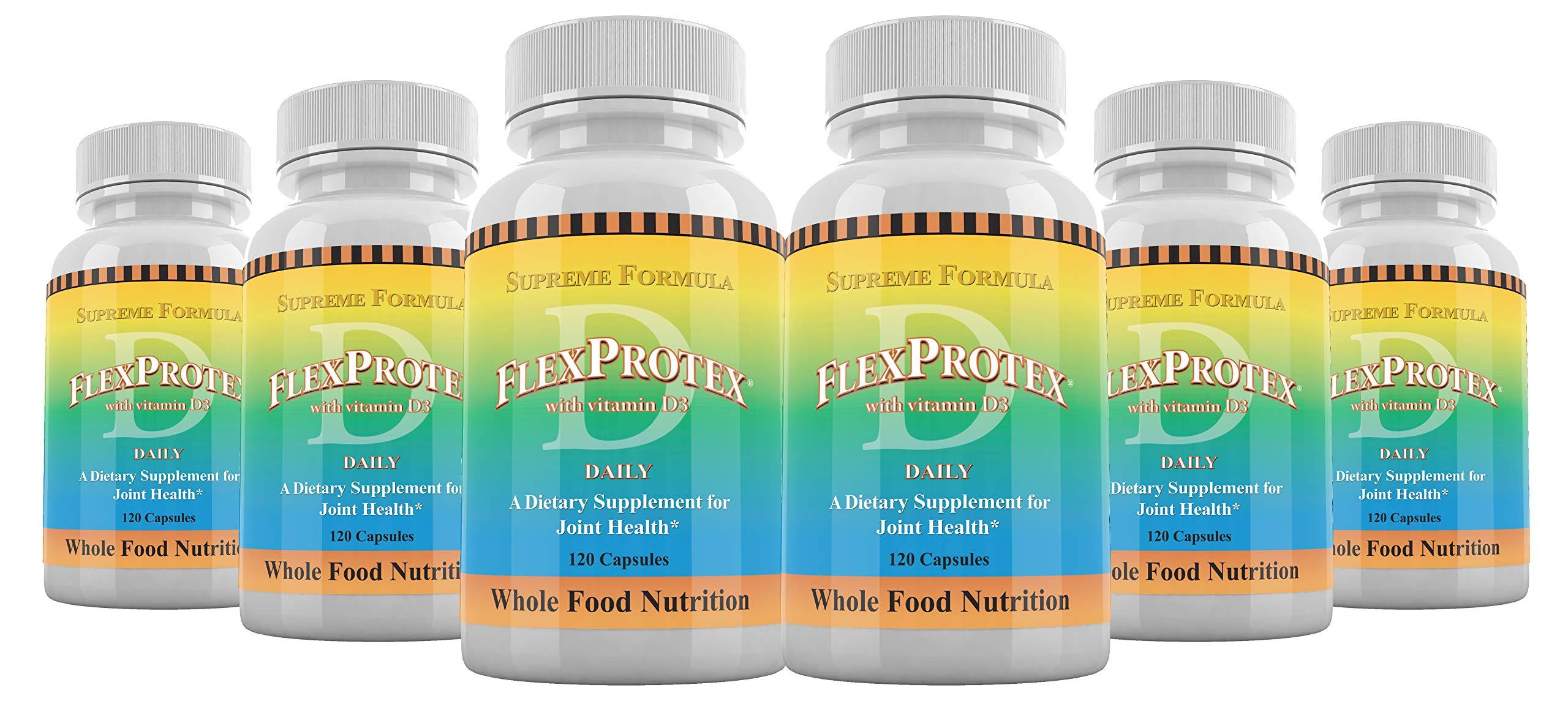 FlexProtex D Daily Vitamin D3 Plus 1 Plain Silver Foil Pack CoralCal Daily Calcium 6 Sachets Dietary Supplement (6 Bottle)