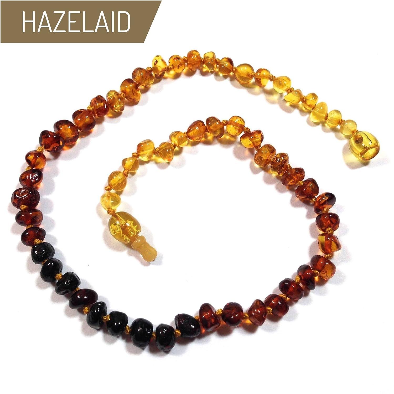 Hazelaid (TM) 14' Pop-Clasp Baltic Amber Rainbow Round Necklace
