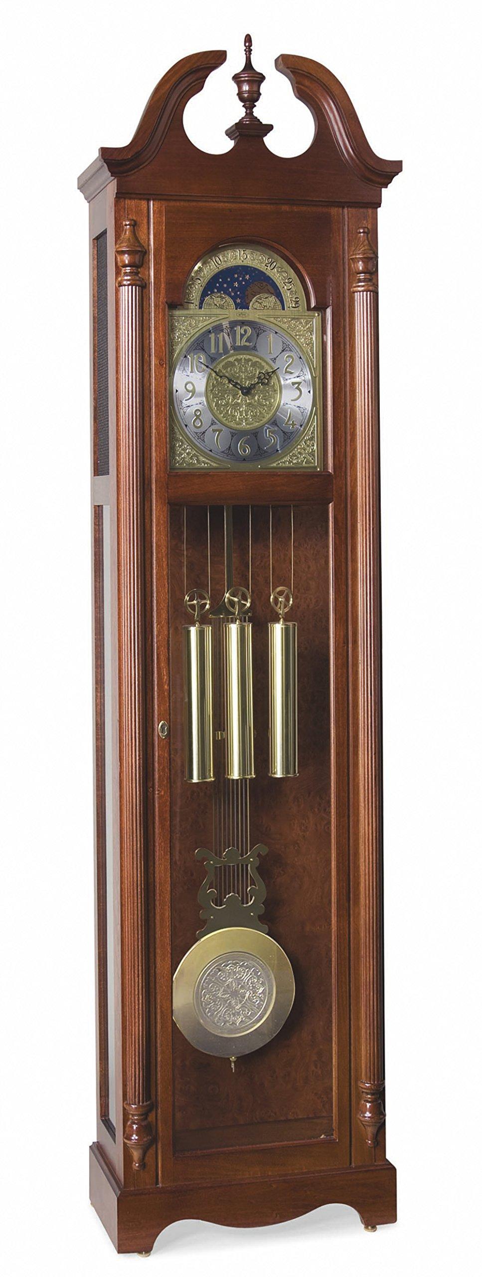 Ridgeway 2504 Lynchburg Grandfather Clock, Glen Arbor Cherry by Ridgeway