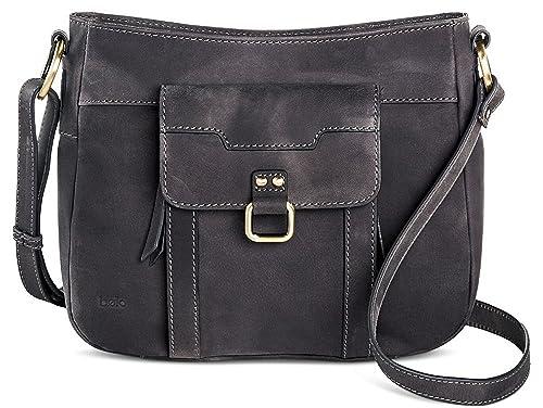 daa4422c8 Bolo Women's Crossbody Handbag with Multiple Compartments and Zipper  Closure (Charcoal Black): Handbags: Amazon.com