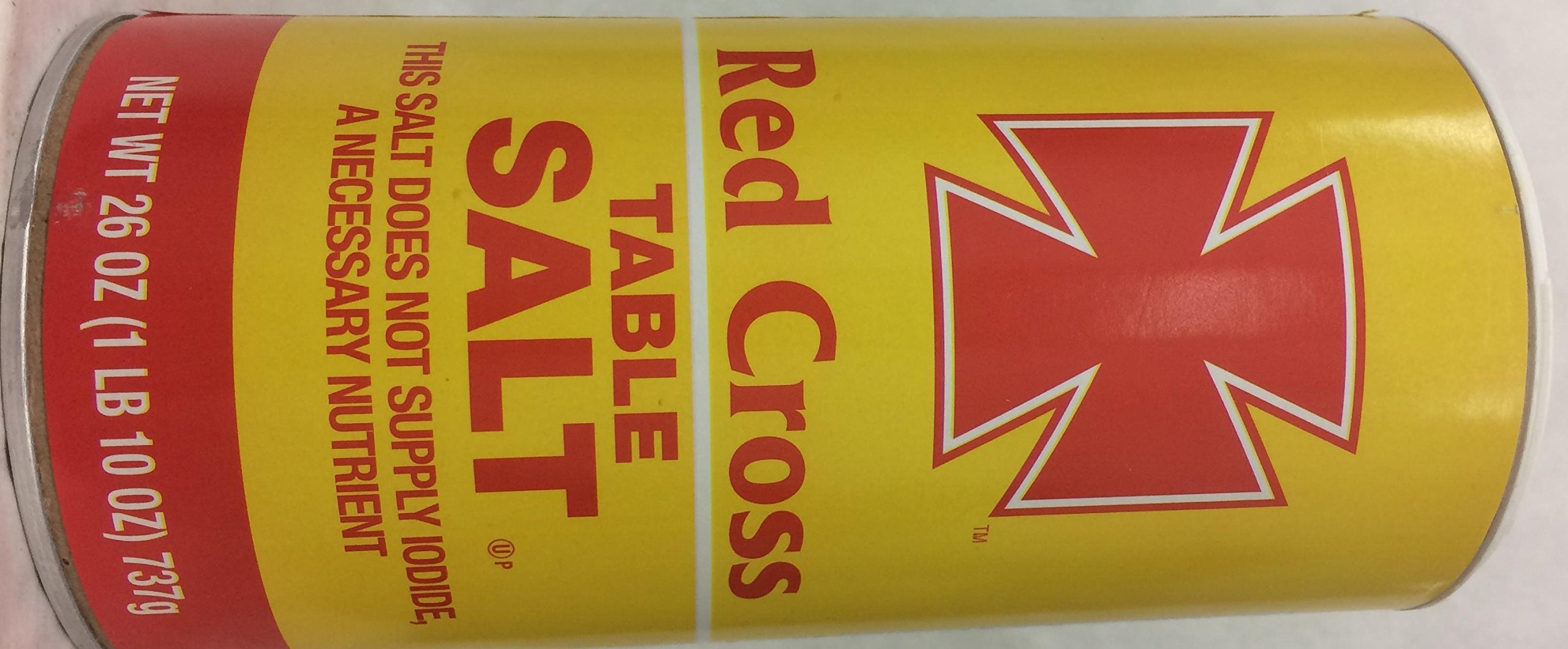 Red Cross Table Salt This Salt Does Not Supply Iodide 26 Oz. Pk Of 3.