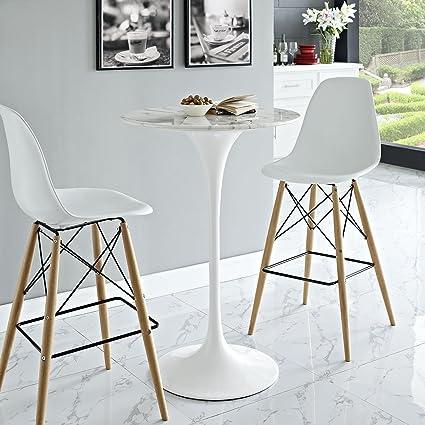 Bon Modway Lippa Round Artificial Marble Bar Table, 28u0026quot; ...