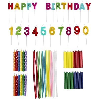 Wilton Rainbow Birthday Party Candles Set, 83-Piece: Kitchen & Dining