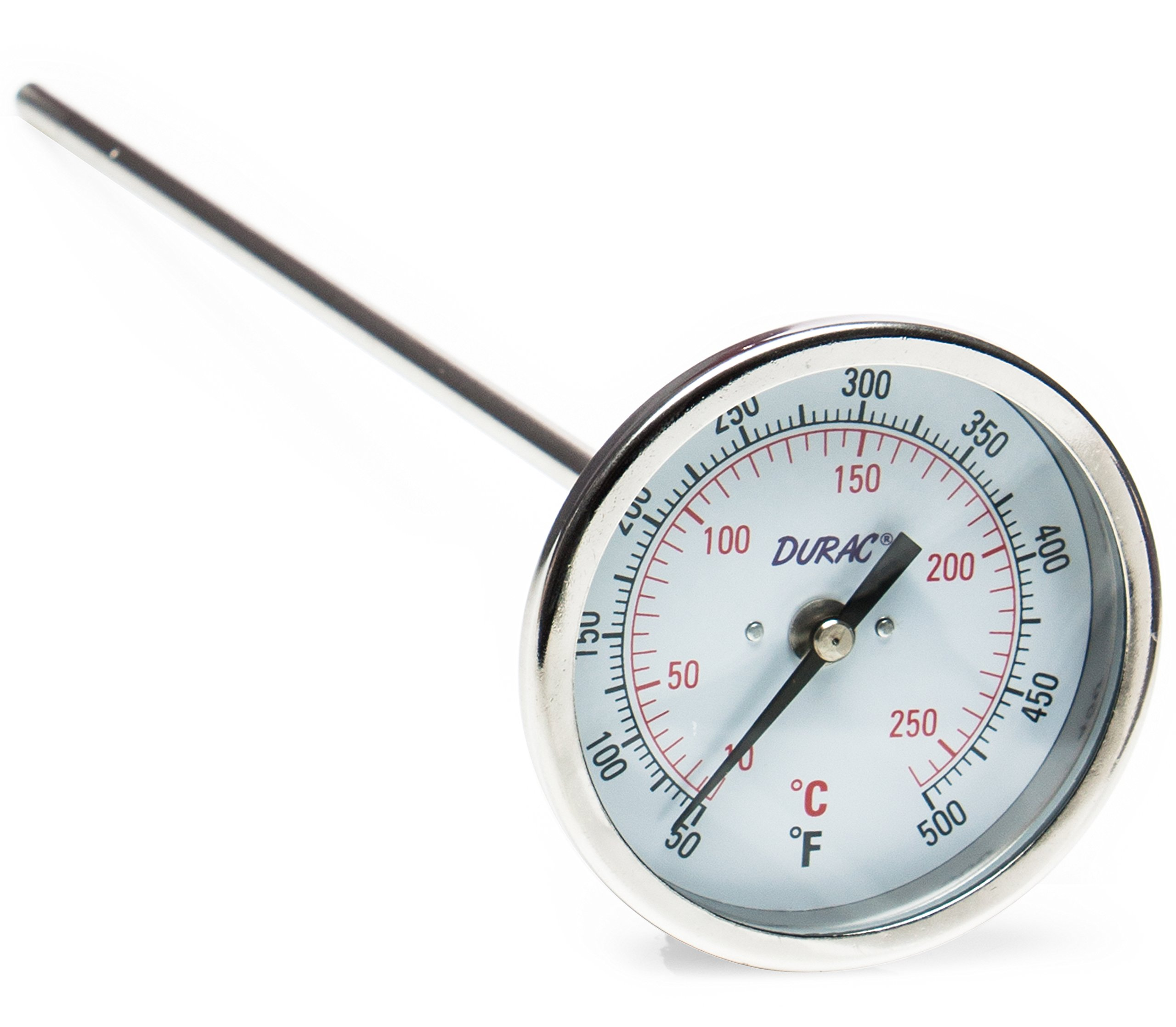 H-B DURAC Bi-Metallic Dial Thermometer; 10 to 260C (50 to 500F), 1/2 in. NPT Threaded Connection, 75mm Dial (B61310-9200)