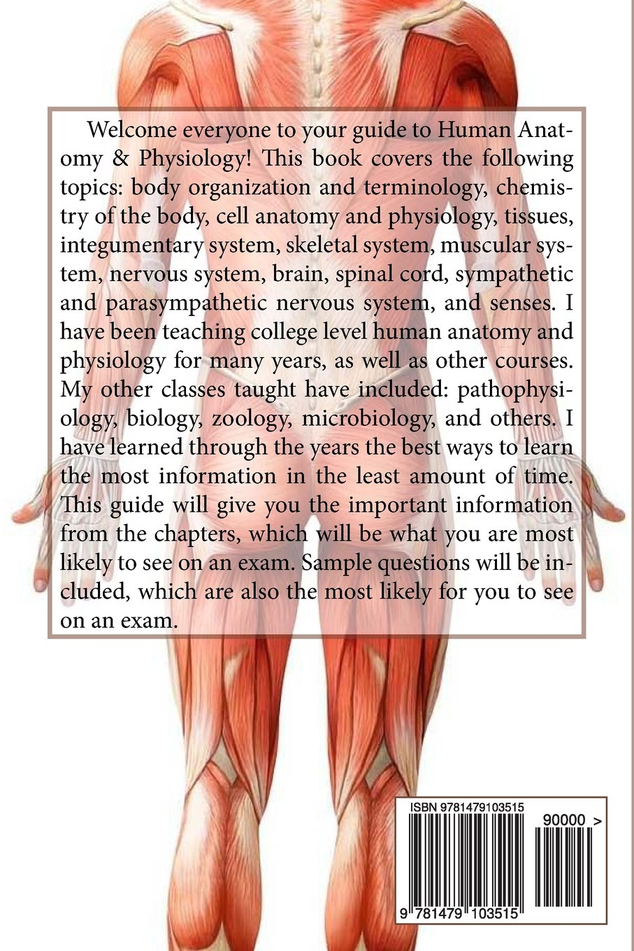 Study Guide to Human Anatomy and Physiology 1: Michael Harrell M.S. ...