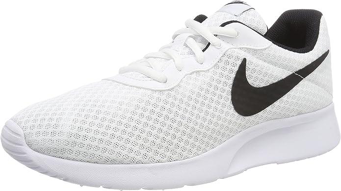 Nike Tanjun Sneakers Laufschuhe Herren Weiß mit schwarzen Streifen
