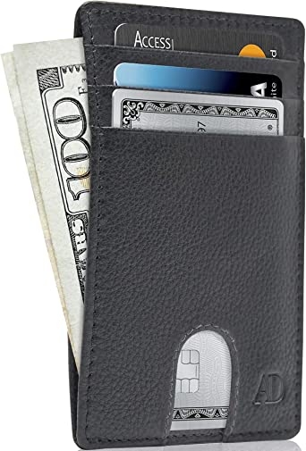 Card Wallet RFID Blocking Slim Card Holder Front pocket Wallet
