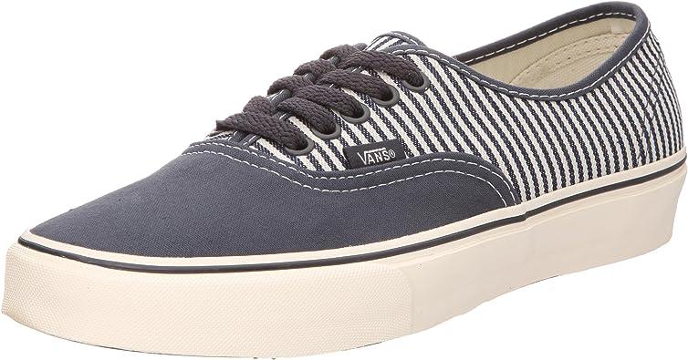 Vans Authentic, Baskets mode mixte adulte - bleu/rayure ...