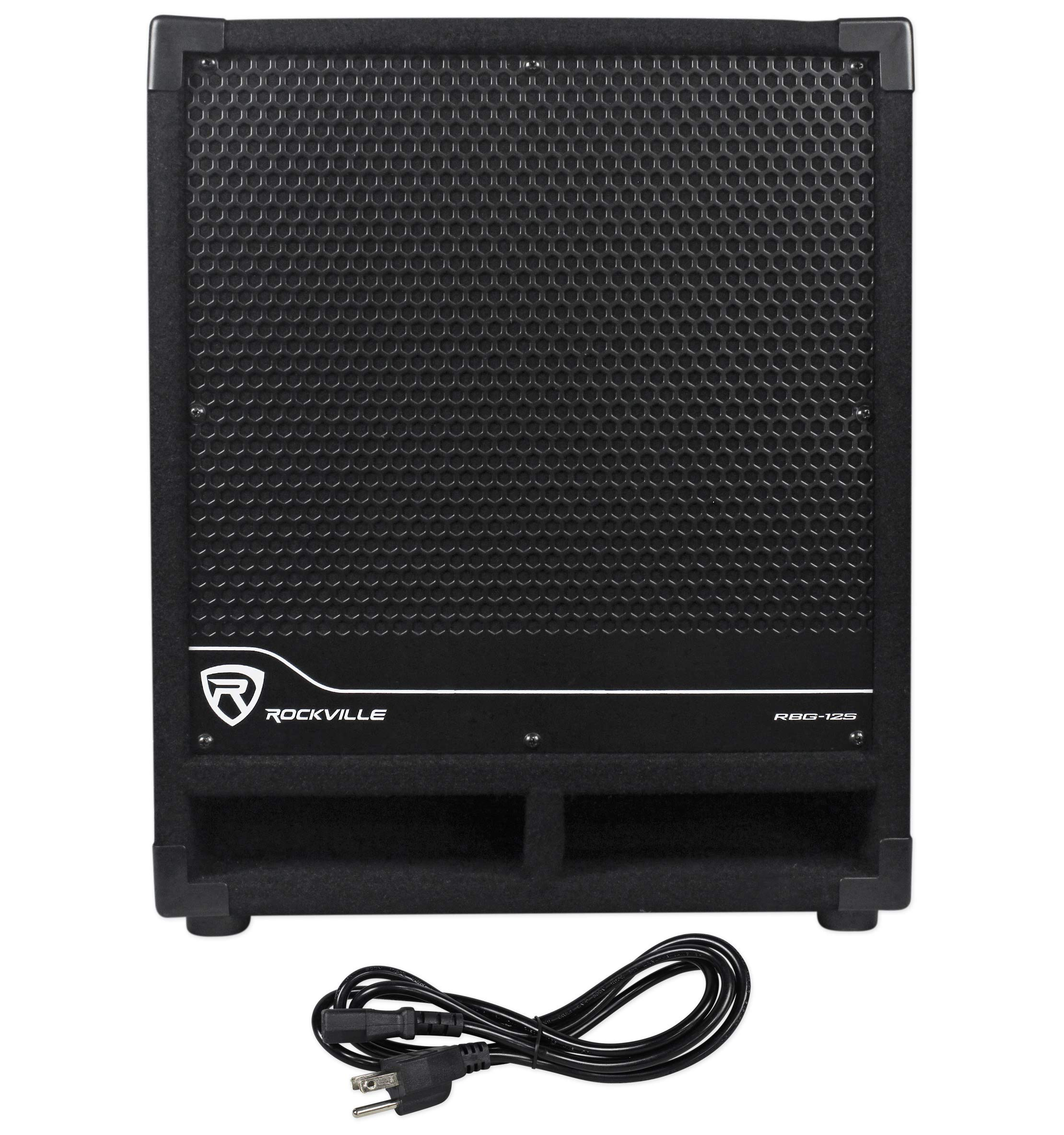 New Rockville RBG12S 12'' 1400w Powered Subwoofer Sub for Church Sound Systems by Rockville