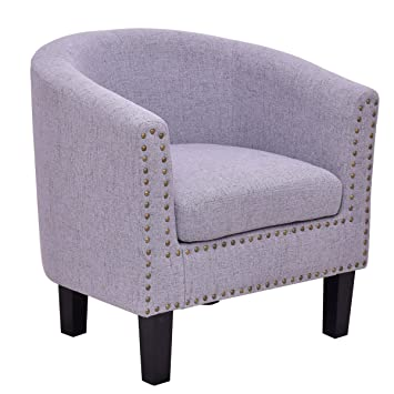 modern tub barrel club seat arm chair accent fabric cushion gray chairs for living room ikea uk