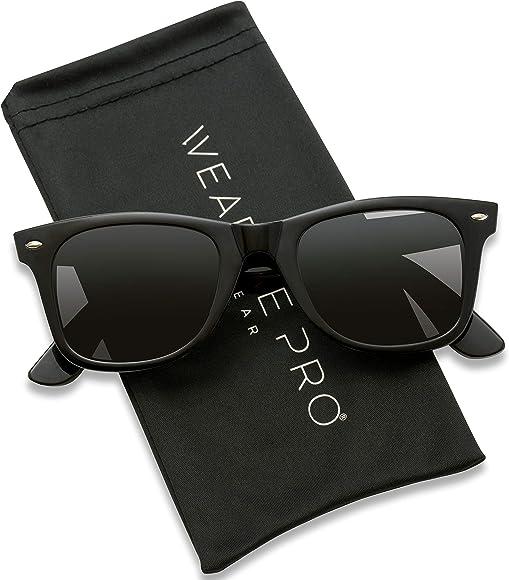 6d23c93acb01 WearMe Pro - Polarized Lens Black Horned Rimmed Sunglasses (Black)
