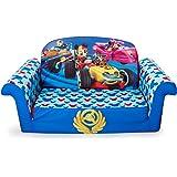 Marshmallow Furniture   Childrenu0027s 2 In 1 Flip Open Foam Sofa, Disney  Mickey Mouse Roadsters