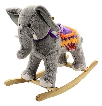amazon com animal adventure circus elephant rocking chair toys games