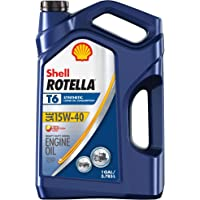 $81 » Shell Rotella T6 Full Synthetic 15W-40 Diesel Engine Oil (1-Gallon, Case of 3)